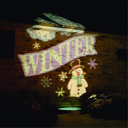 Winter Projection on home by RazTech Lighting