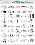 Black and white foil film images page 4  for gobo holiday christas projectors