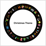 Christmas Theme film for ThemeLite Projector  for gobo holiday christas projectors