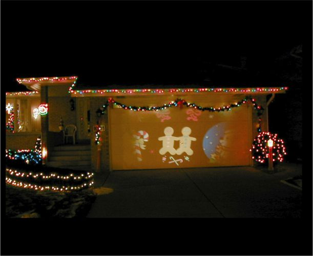 holiday projectors outdoors
