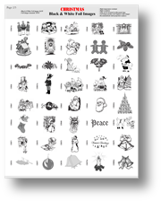 Black and white foil film images page 2  for gobo holiday christas projectors